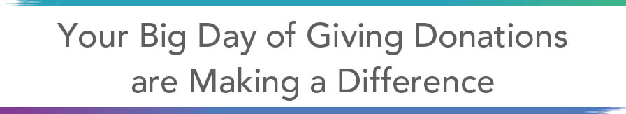 Your Big Day of Giving Donations Making a Difference